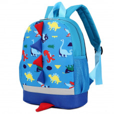 Cute Cartoon Kid Backpack Dinosaur: Blue