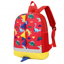 Cute Cartoon Kid Backpack Dinosaur: Red