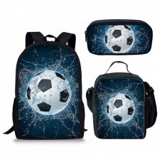 ForUDesigns Cartoon Football Backpack- Water 3 Pcs/set