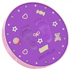 Sculpture Baby Handprint and Footprint - Purple