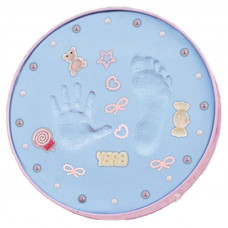 Sculpture Baby Handprint and Footprint -Blue
