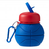 Smiggle Basketball Compressible Silicone Water Bottle