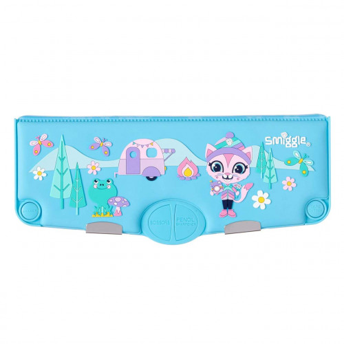 Smiggle Yay Scented Pop Out Pencil Case Blue