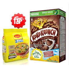 Nestlé Koko Krunch Chocolate Cereal 330 gm with FREE Maggi Masala Noodles 4pcs Pack