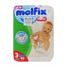 Molfix Baby Diaper Pants Super Pack Midi 6- 11 kg 60 Pcs (Made in Turkey)