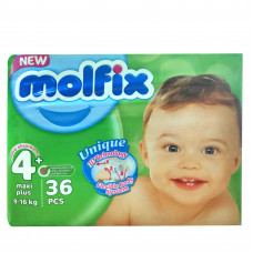 Molfix Baby Diaper Belt Maxi 9-16 kg 36 Pcs (Made in Turkey)