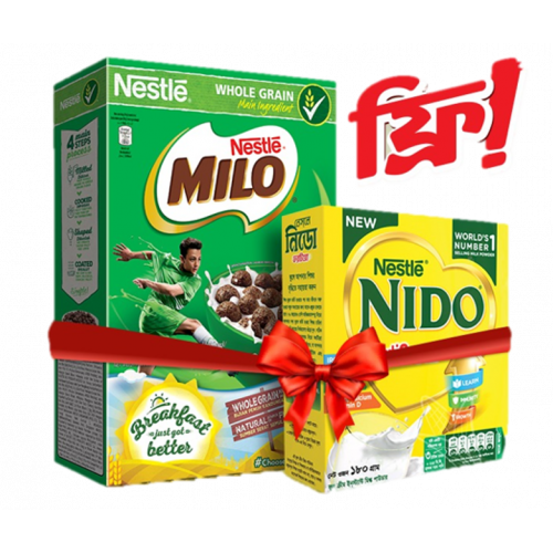 Nestlé MILO Breakfast Chocolate Cereal Box with Free NIDO Milk Powder