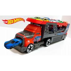 Hot Wheels CDJ19 City Blastin Rig Hauler With Cars