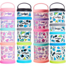 Smiggle Happy Snack N Stack Containers X4