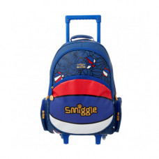 Smiggle Basketball Light Up Trolley Backpack Blue