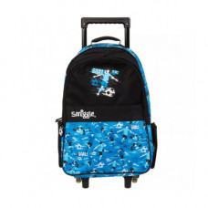 Smiggle Cruise Light Up Trolley Bag - Blue