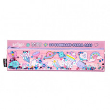 Smiggle Poppin A4 Book Band Pencil Case Pink