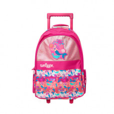 Smiggle Wizz Light Up Trolley Backpack Pink