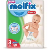 Molfix Baby Diaper Pants Super Pack Midi 6-11 kg 60 Pcs (Made in Turkey)