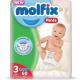Molfix Baby Diaper Pants Super Pack Midi 6-11 kg 60 Pcs (Made in Turkey)