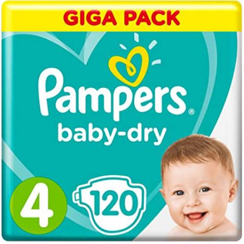 Pampers Baby Dry Size 4 Belt 9-14 kg 120 pcs (UK)