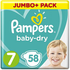 Pampers Baby Dry Size 7 Belt 15kg 58 Pcs (UK)