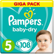 Pampers Baby Dry Size 5 Belt 11-25 kg 108 pcs (UK)
