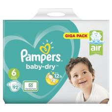 Pampers Baby Dry Size 6 Belt 15+kg 92 pcs (UK)