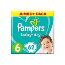 Pampers Baby Dry Size 6 Belt 13-18kg 62 pcs (UK)
