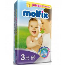 Molfix Jumbo Midi Belt 4-9 Kg 68 Pcs (Made in Turkey)