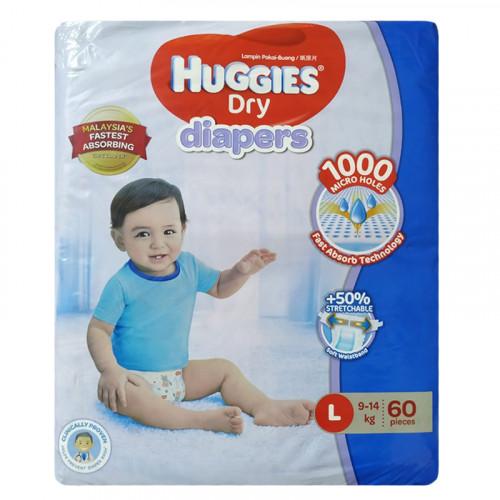 Huggies Large Belt Diaper 9-14Kg - 60 Pcs (Malaysia)