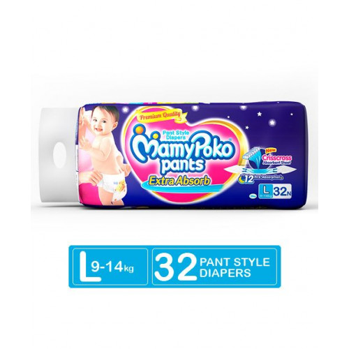 MamyPoko Pants Large 9-14 Kg 32 Pcs (Made in India)