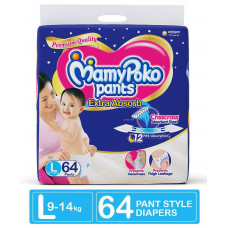 MamyPoko Pants Large 9-14 Kg 64 Pcs (Made in India)