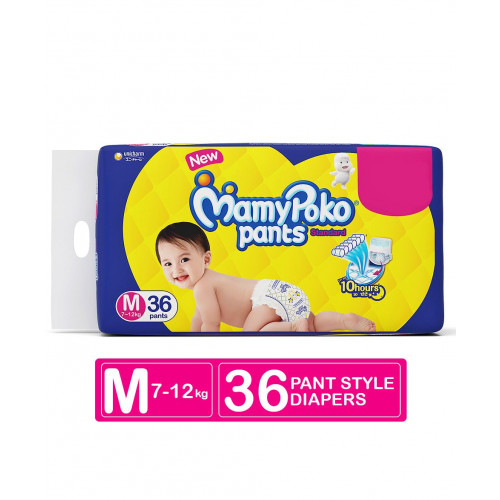 MamyPoko Pants Medium 7-12 Kg 36 Pcs (Made in India)