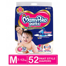 MamyPoko Pants Medium 7-12 Kg 52 Pcs (Made in India)