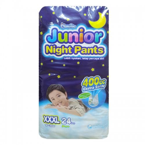 Mamy Poko Junior Night Pants XXXL 18-35 Kg Boy- 24 Pcs (Indonesia)