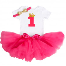 1 Year Baby Girl Dress Princess Girls: Red