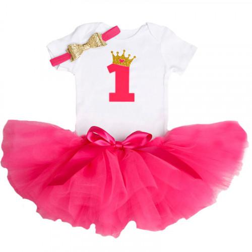 d6d2216da68c2 1 Year Baby Girl Dress Princess Girls: Red
