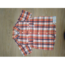 MotherCare Boy Check Shirt - Short Sleeve