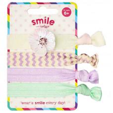 Smiggle Smile Jules Hair Ties 4Pk
