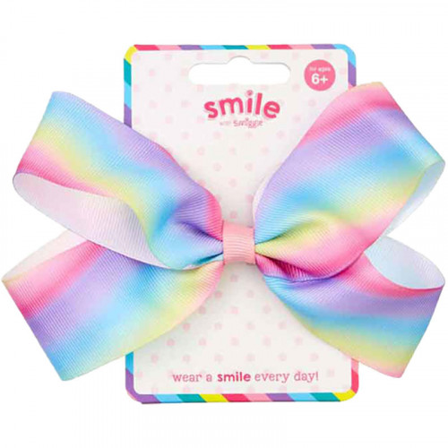 Smiggle Smile Emma Bow Hair Clip: Pink Mix
