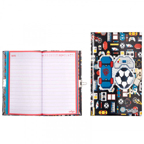 Smiggle A5 Chirpy Lockable Notebook: Black