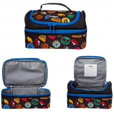 Smiggle Hits Double Decker Lunch Box: Black